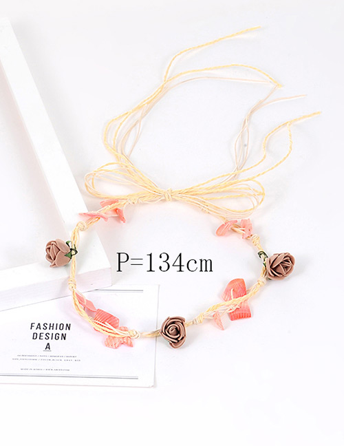 Fashion Multi-color Flower&shell Decorated Pure Color Simple Hair Ring