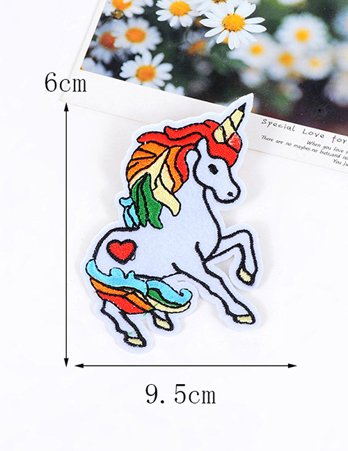 Fashion Multi-color Embroidery Unicorn Decoratec Color Matching Brooch