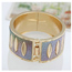 Tungsten Silver Color Punk Circle Design Alloy Fashion Bangles