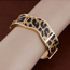 Uniform Leopard Small Wave Shape Design Alloy Fashion Bangles