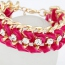 Plum Red Luxury Weave Chain Alloy Korean Fashion Bracelet