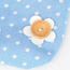 Montgomery Sky Blue Flower Dot Design Cotton Home Storage Bags