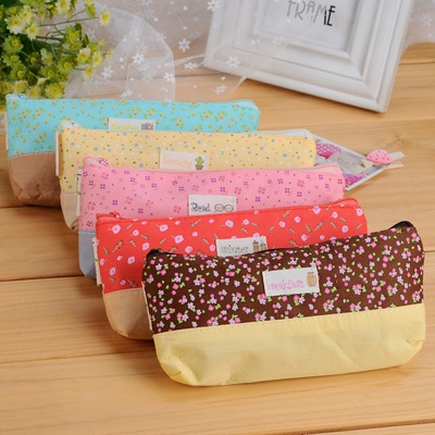 Packaging Yellow Flower Sea Design Cotton Pencil Case Paper Bags