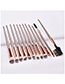 Fashion Brown 12-pack Eye Eyebrow Comb