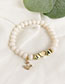 Fashion Gold Alloy Resin Letter Bracelet Set