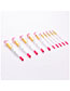 Fashion White 10 Stick Makeup Brush