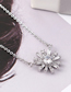 Fashion Platinum Zircon Necklace - The Other Side Of The Flower