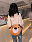 Fashion Brown Cartoon Doll Plush Shoulder Messenger Bag