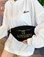 Fashion White Fleece Chain Shoulder Messenger Bag