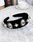 Fashion White Alloy Pearl Insect Flannel Headband