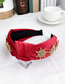 Fashion Red Alloy Diamond Sun Flower Velvet Headband