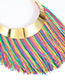Exaggerate Multi-color Tassel Decorated Simple Short Chain Necklace