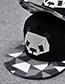 Trendy Black Cartoon Panda Pattern Decorated Hip-hop Cap(adjustable)