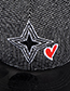 Fashion Black Heart Shape Decorated Hat