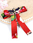 Fashion White Bee Shape Decorated Bowknot Brooch