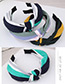 Fashion Green+blue+pink Stripe Pattern Decorated Hairband