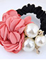 Fashion Claret Red+white Flower Shape Decorated Hair Band