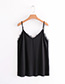 Fashion Black Pure Color Decorated Vest