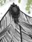 Fashion Black Stripe Pattern Decorated Bowknot Brooch