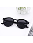Vintage Black Round Shape Decorated Sunglasses