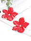 Fashion Orange Flowers Shape Design Simple Earrings