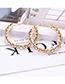 Fashion Gold Color Full Diamond Decorated Earrings (small)