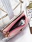 Fashion Green Letter Pattern Decorated Transparent Bag