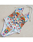 Sexy Multi-color Off-the-shoulder Design Flower Pattern Decorated Swimwear
