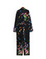 Fashion Multi-color Flower Pattern Decorated Jumpsuit