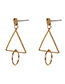 Fashion Gold Color Triangle Shape Decorated Earrings