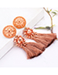 Fashion Champagne Tassel Decorated Earrings
