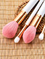 Fashion White Round Shape Decorated Makeup Brush (10 Pcs )