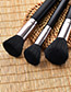 Fashion Black Round Shape Decorated Makeup Brush ( 7 Pcs )