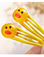 Fashion Yellow Bear Shape Decorated Hair Clip (2 Pcs )