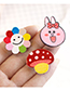 Fashion Multi-color Bear Shape Decorated Hair Sticky (3 Pcs)