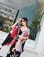 Fashion Multi-color Color Matching Design Dual-use Scarf