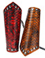 Fashion Brown Serpentine Pattern Decorated Wrist Guard