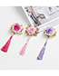 Lovely Purple Tassel&flowers Decorated Child Hair Clip