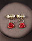 Fashion Red Flowers Decorated Jewelry Sets