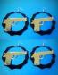 Fashion Black Pistol Shape Decorated Earrings