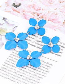 Fashion Green Flower Shape Decorated Earrings