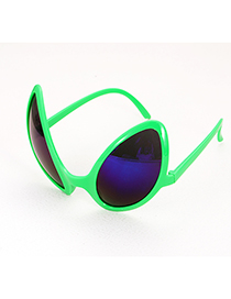 Fashion Green Irregular Shape Decorated Glasses