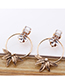 Fashion Gold Color Leaf Shape Decorated Earrings