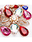 Fashion Multi-color Flower Shape Decorated Jewelry Set