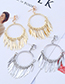 Fashion Gold Color Pure Color Decorated Tassel Earrings