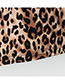 Fashion Brown Leopard Pattern Decorated Skirt