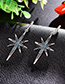 Fashion Blue Star Shape Decorated Earrings