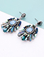 Fashion Green Bead Decorated Earrings