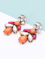 Fashion Pink Water Drop Shape Decorated Earrings