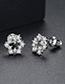 Simple Silver Color Flower Shape Decorated Earrings
